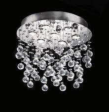 Crystal Ceiling Mount Light Fixture by Modern U0026 Contemporary Flush Mount Crystal Ceiling Lamp Lighting