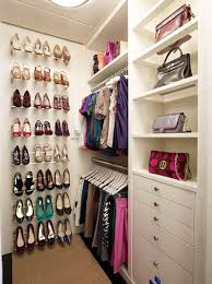elegant dressing room with chic closet shoe storage organization