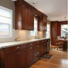Backsplash With Granite Countertops by Kashmir White Granite With Off White Subway Tiles And Cherry