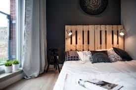 deco chambre lit noir decoration déco noir blanc chambre lit bois massif literie blanche