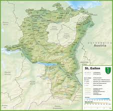 Autobahn Germany Map by Canton Of St Gallen Map With Cities And Towns