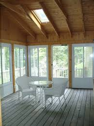 screen porch enclosure with harvey aluminum panel system and