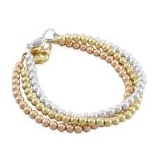 stacking bracelets six beadworks celeste stacking bracelet set gold