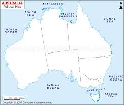 map of australia political outline map