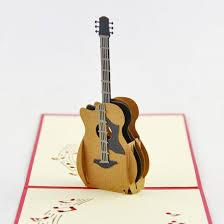 acoustic guitar pop up card guitar pop up card guitar card