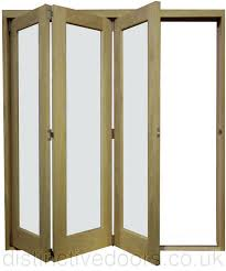 Folding Room Divider Doors Derwent Slide Aside Clear Glazed Oak Room Divider 3 Door Set