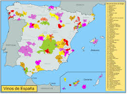 Spain Regions Map by Un Paseo Through Spain The Wandering Wine