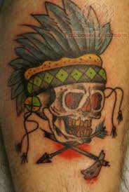 traditional indian skull tattoo 2015