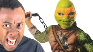 foot clan halloween costume ninja turtles costume ruins the movie black nerd rants youtube