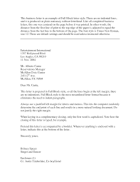 Business Letter Template With Cc Ideas Of Block Business Letter Format Sample Also Free Shishita