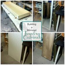 Wall Mount Jewelry Cabinet How To Build A Mirrored Wall Mount Jewelry Cabinet The Interior