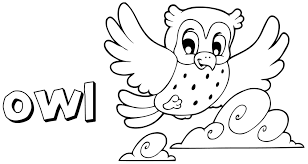 Plain Decoration Owls Coloring Pages Cartoon Owl Page Free Owl Color Pages