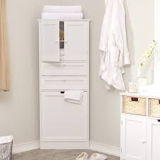 free standing bathroom cabinets 4 tiered floating white wooden