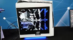 computer in glass desk ibuypower u0027s transparent lcd side panel looks awesome pc gamer