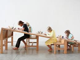 Growth Table Is A Community Drawing Table Designed To Accommodate - Designer drafting table