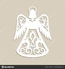 christmas carved openwork angel u2014 stock vector galinaalex 131619238