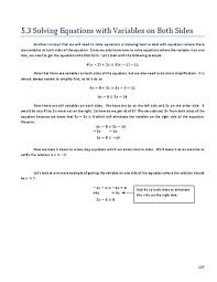 solving equations with variables on both sides worksheets free