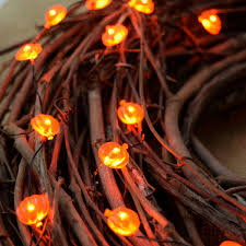 Led Lights Halloween Led Halloween Pumpkin Battery Operated Mini String Lights
