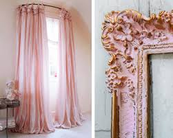 Pink And Gold Curtains Pink Curtains And Frame Interior Decor Decoration Antique
