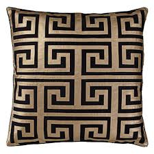 greek key home decor greek key black and gold decorative pillow black and gold