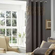 Pewter Curtains Grayson Pewter Thermal Eyelet Curtains Dunelm