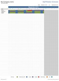 Staffing Schedule Template Excel Staff Rotation Schedule Free Template For Excel