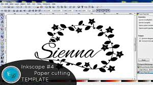 inkscape basics 4 paper cutting template youtube