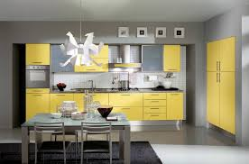 grey and yellow kitchen ideas yellow colored kitchen design ideas outofhome