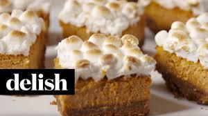 thanksgiving yams with marshmallows sweet potato marshmallow bars delish youtube