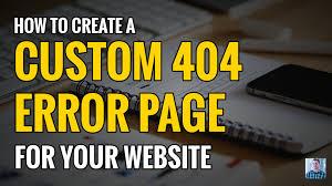 erro 404 no encontrado geapcombr how to create a custom error 404 not found page youtube