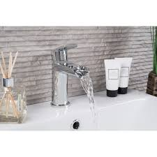 clean waterfall basin mixer and bath shower mixer tap pack