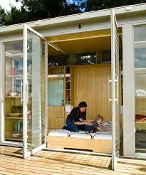 the compact dwelling employs a single shipping container which