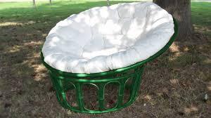 Papasan Chair Cushion Outdoor Furniture Green Rattan Outdoor Papasan Chair With White Cushion