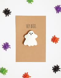 diy hilarious ghost halloween card crumpled and sanded green