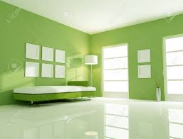 modern couch in a bright green living room stock photo picture