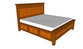 Plans To Build Platform Bed With Storage by King Size Howtospecialist How To Build Step By Step Diy Plans