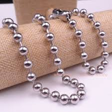 stainless steel ball necklace images 18 39 39 36 39 39 choose stainless steel silver large 6mm 8mm ball jpg