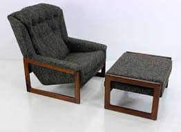 Mid Century Modern Armchair Lounge Chair And Ottoman By Dux For