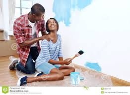 Painting House by Painting House Couple Stock Photo Image 55067115