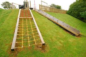 Playground Design On A Slope Embankment Net Playline - Backyard playground designs