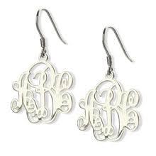 Monogrammed Earrings Popular Sterling Silver Monogram Earrings Buy Cheap Sterling
