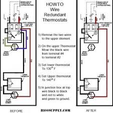 thermostat electric water heater wiring diagram wiring