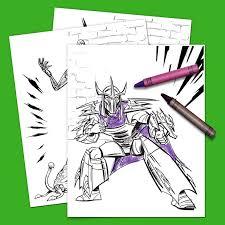 teenage mutant ninja turtles villains coloring pack nickelodeon