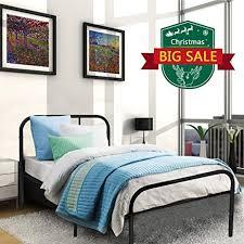 Mattress For Platform Bed Amazon Com Kingpex Black Twin Size Metal Platform Bed Frame