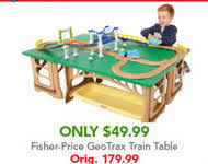 fisher price train table toys r us deals of the day geotrax train table only 49 99 reg