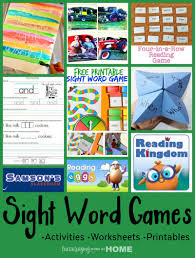 teaching reading with sight word games activities and worksheets