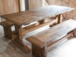 Rustic Oak Dining Tables Bench The Advantages For Choosing Oak Dining Table Stunning Oak