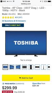 best buy gamers club not showing up for black friday deals customer reviews toshiba 49l420u best buy