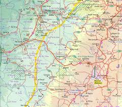 Map Israel Palestine Travel Reference Map