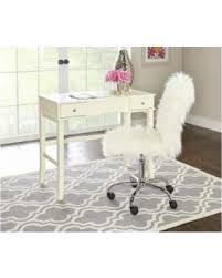 faux fur desk chair don t miss this bargain linon faux fur office chair white y 275 fabric